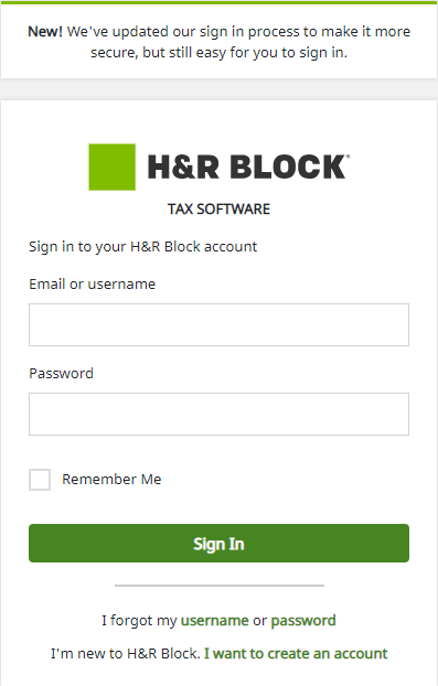 H&R Block Emerald Card Login | Sign In or Create New Account